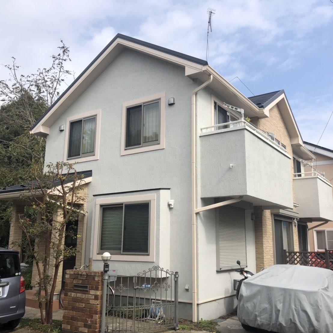 大和市I様邸 屋根葺替え・外壁塗装工事 ②